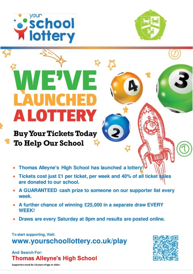 OUR SCHOOL IS STARTING A LOTTERY - image